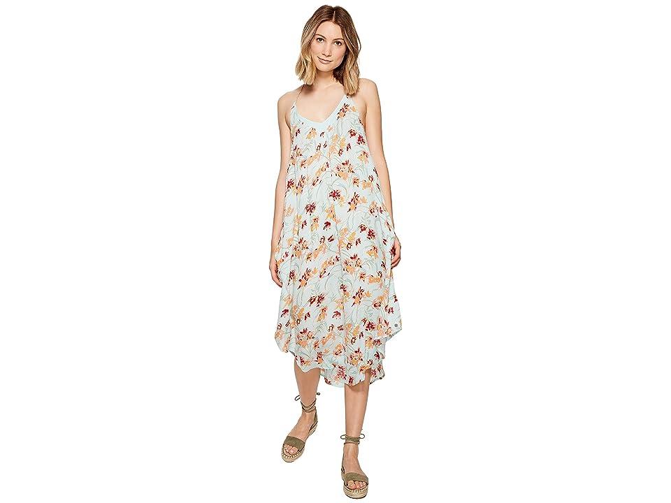 Roxy Kat Fish Dress (Bleached Aqua Franco Floral) Women