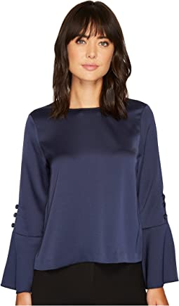 Vince Camuto - Long Sleeve Flutter Cuff Blouse