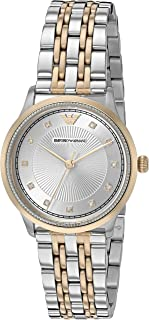 Emporio Armani Alpha Women's Silver Dial Stainless Steel Analog Watch - AR1963