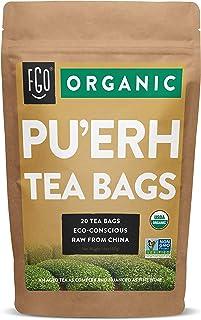 Organic Pu'erh Tea Bags | 20 Tea Bags | Eco-Conscious Tea Bags in Kraft Bag | by FGO