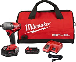 "Milwaukee Electric Tools 2861-22CX M18 Fuel 1/2"" Mid-Torque Impact Wrench Auto Kit"