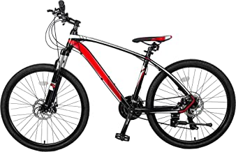 """Autoshoppingcenter 26"""" Mountain Bicycle with Suspension Fork 24 Speed Mountain Bike with Disc Brake, Lightweight Aluminum ..."""