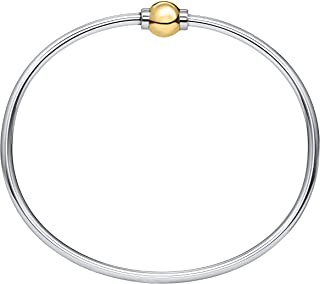 The Traditional Sterling Silver & 14K Yellow Gold Clad Single Ball Threaded Bracelet from Cape Cod