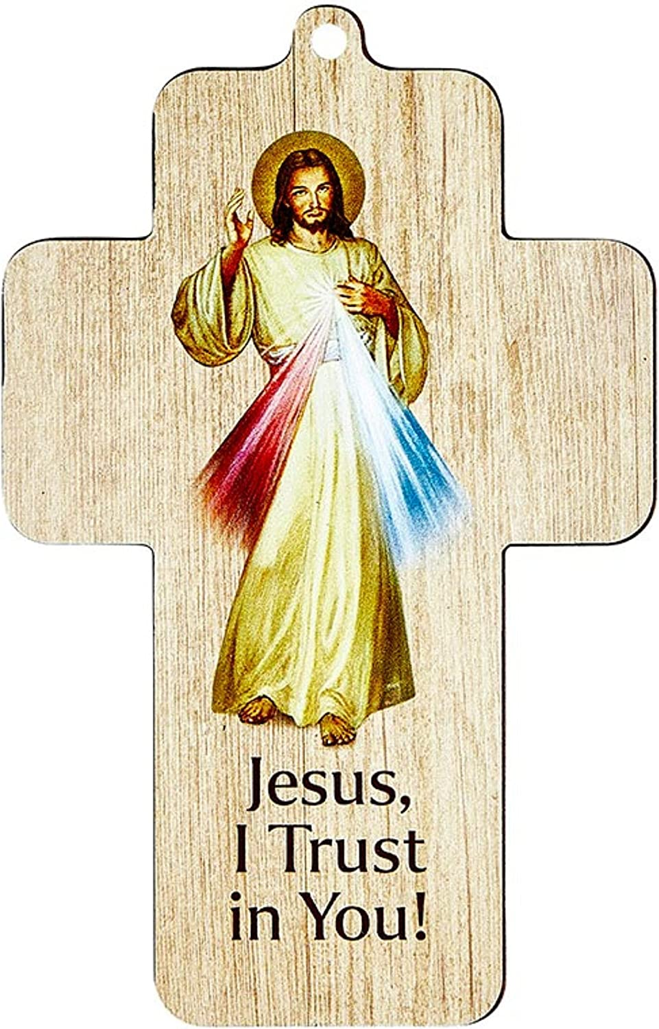 Divine Mercy Wall Cross Full Color Super Special SALE held Jesus Limited time for free shipping Laser Artwork I Trust