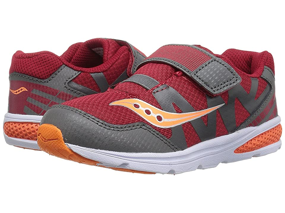 Saucony Kids Baby Ride Pro (Toddler/Little Kid) (Red/Grey/Orange) Boys Shoes