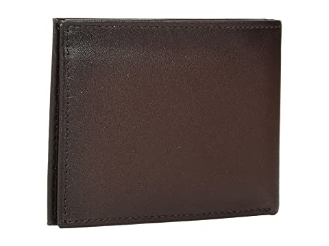 Michigan Perry Ellis Slim Bifold Portfolio Marrón FwpqTgw