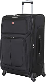 Sion Softside Luggage with Spinner Wheels, Black,...