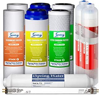 iSpring F10KU 7-Stage Alkaline Mineral Uv Ro System 1-Year Supply Filter Pack Fits RCC7AK-Uv RCC1UP-AK