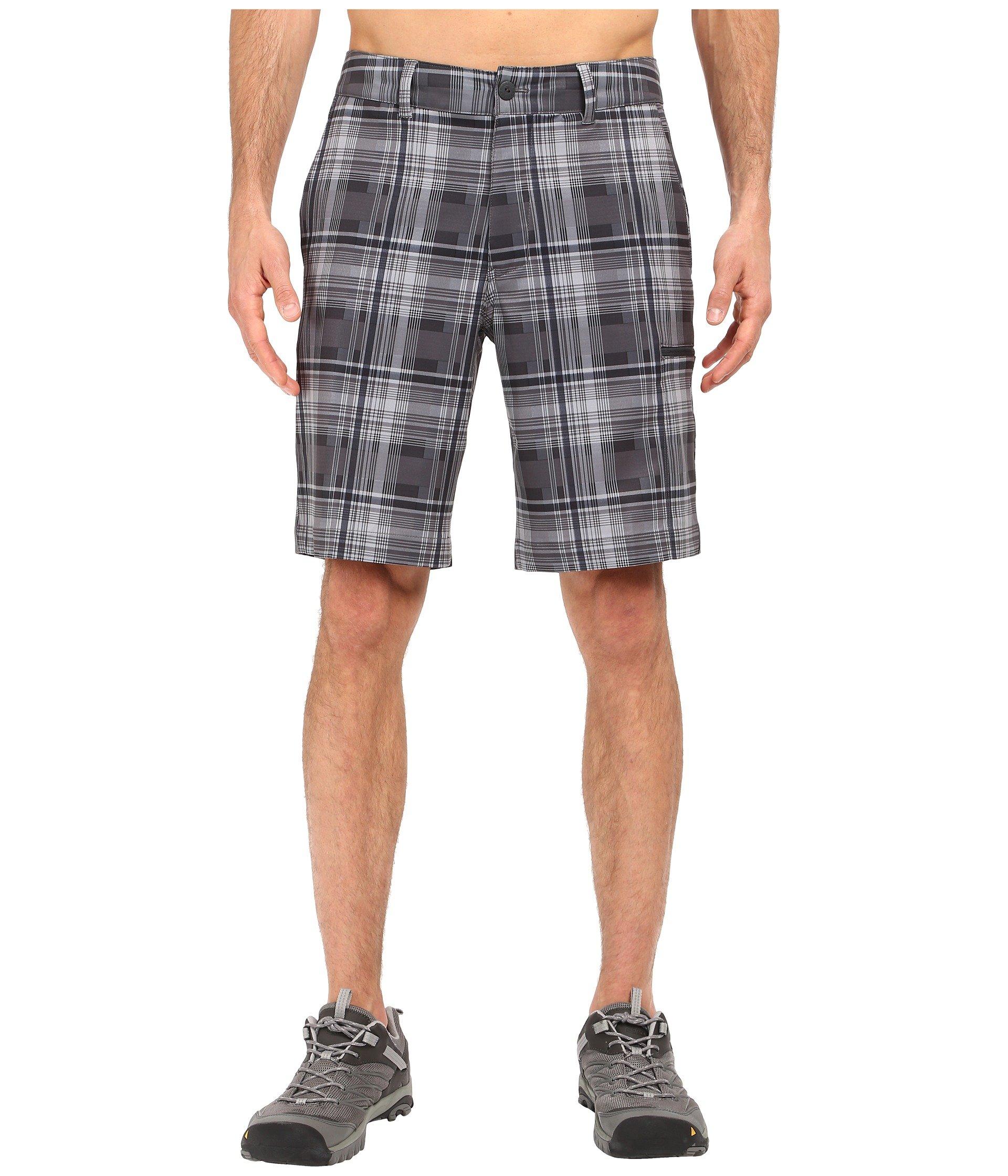 Pura Vida 2.0 Shorts, Asphalt Grey Plaid (Prior Season)