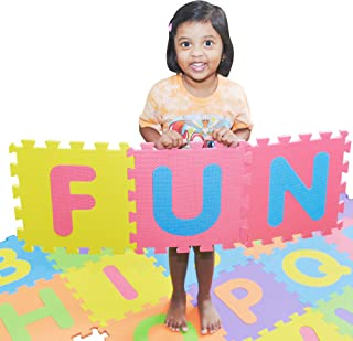 pete`s choice SAFEST Non Toxic Alphabet Puzzle Mat   THICKEST ABC + Numbers 0 to 9 Flooring Mat   Bonus Fun Learning eBook
