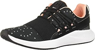 Under Armour UA W Charged Breathe MCRPRNT, Women's Road Running Shoes, Black (Black/White)