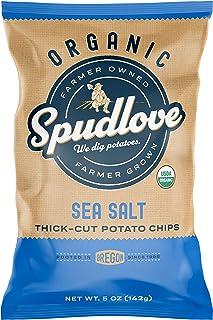 SpudLove Organic Thick-Cut Potato Chips Sea Salt | 5 oz Bag