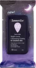 Summer's Eve Night-Time Cleansing Cloths, Lavender, 32 Cloths (Pack of 2)
