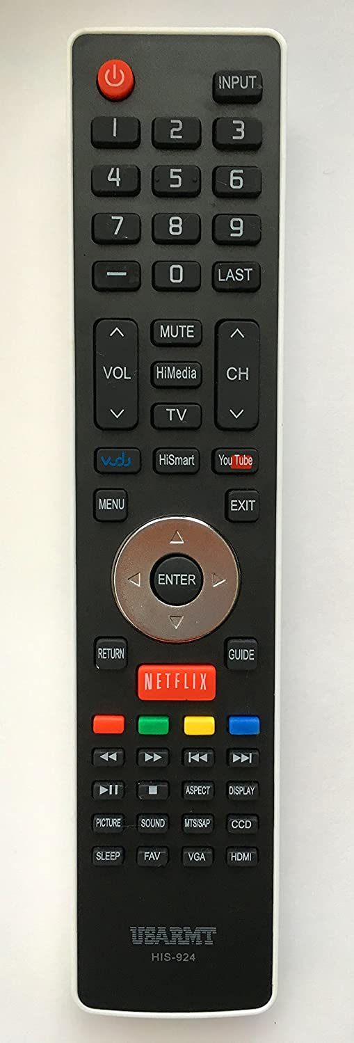 NEW Hisense Replacement TV Remote Control HIS-924 for 99% Hisense LCD LED Smart HDTV