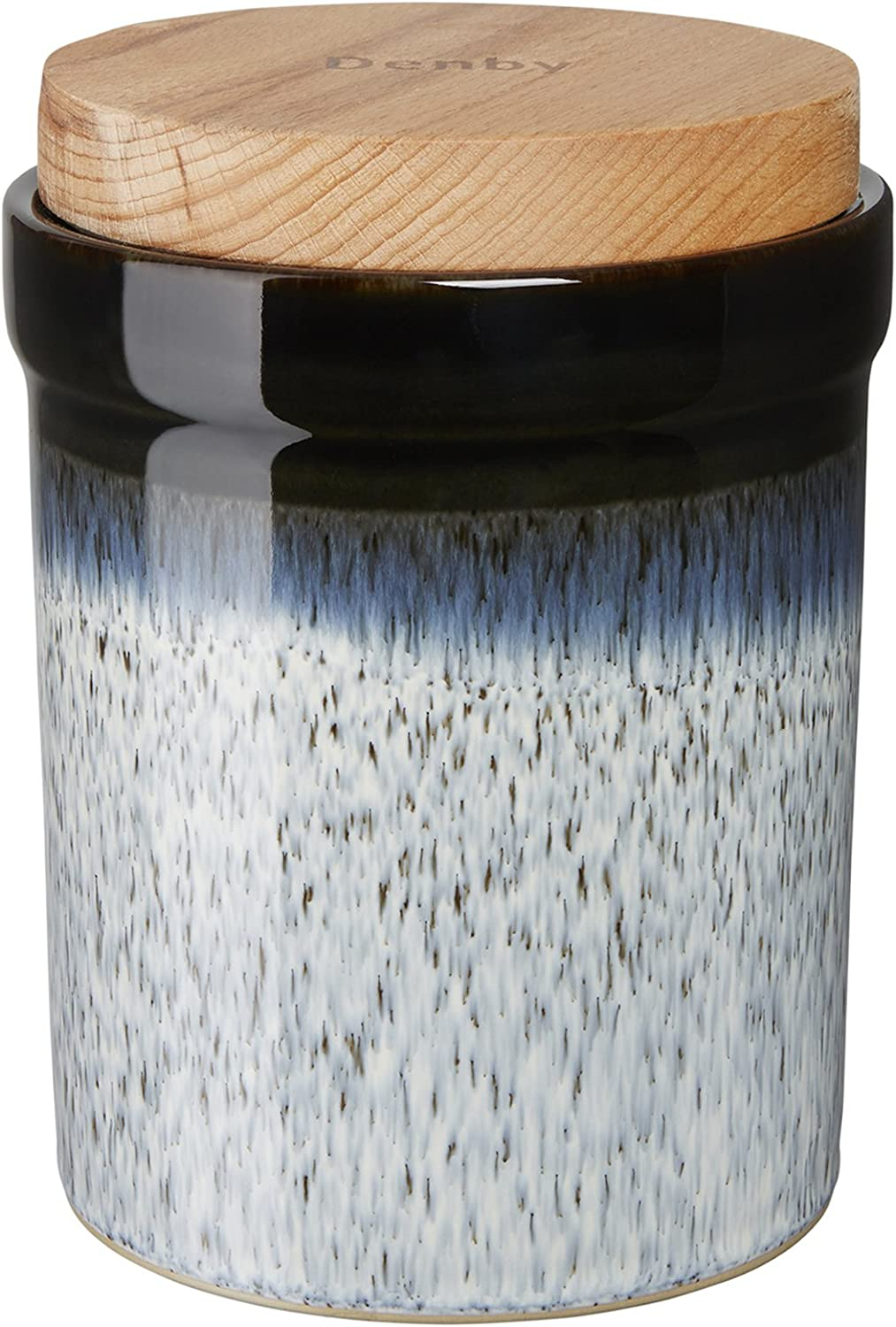 Denby USA Halo Storage Jar, Speckle
