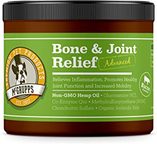 Mcgrupps Advanced Bone and Joint Relief Chews for Dogs - Restores Joint Health and Mobility While Reducing Pain & Inflammation. Made with Hemp Oil, Glucosamine, Chondroitin, and MSM   130 Count