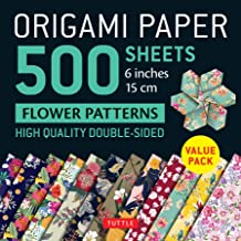 """Origami Paper 500 sheets Flower Patterns 6"""" (15 cm): Tuttle Origami Paper: High-Quality Double-Sided Origami Sheets Printe..."""
