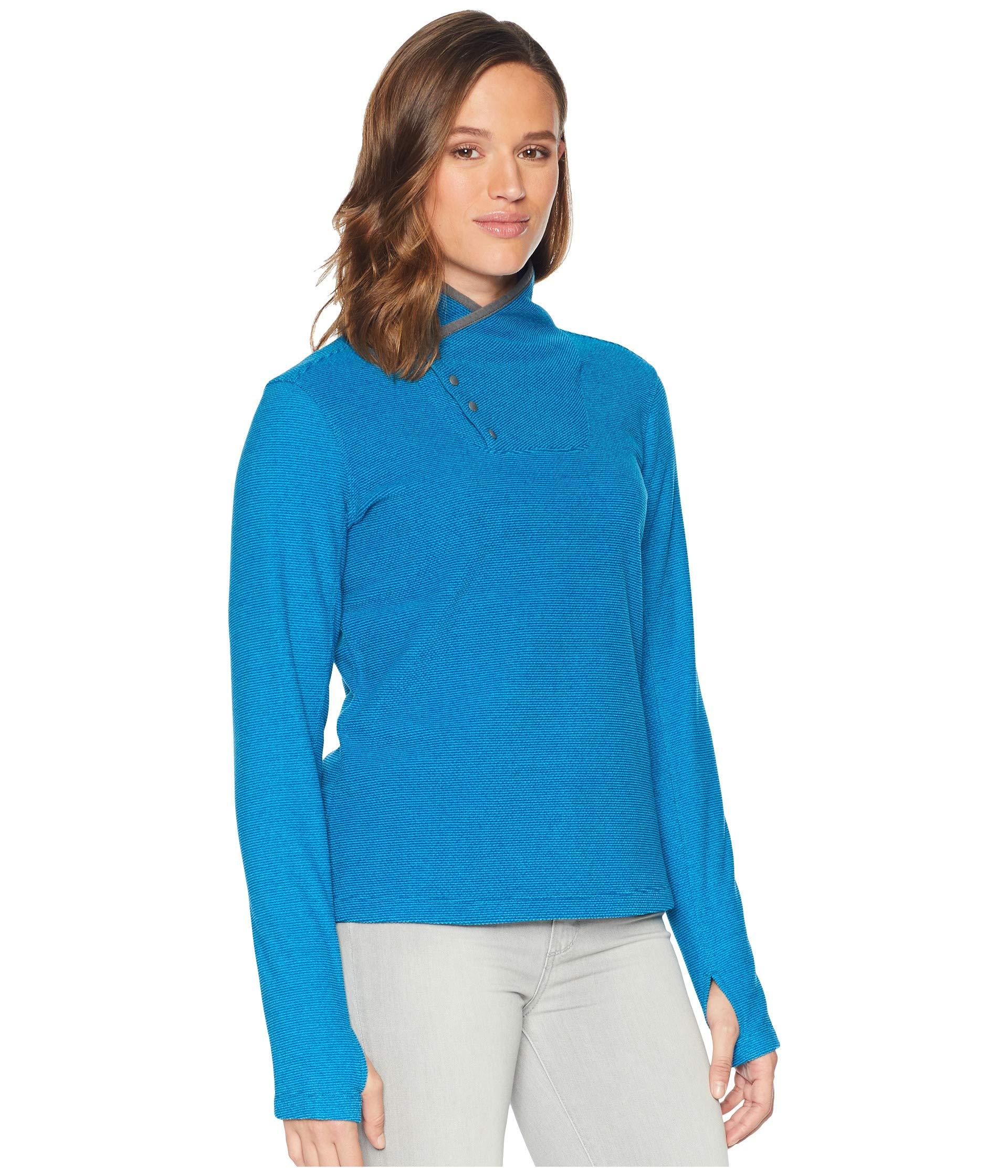 Sierra Fleece Blacktail Blue White Havana Pullover neck Snap dxHWfwP