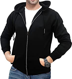 LAZYCHUNKS Cotton Full Sleeve Sweatshirt Hoodie Jacket for Men
