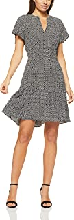 French Connection Women's Abstract SPOT Dress, Black/Summer White