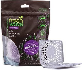 Fresh Wave Lavender Odor Removing Packs, Bag of 6 + Bonus Fresh Pod Case
