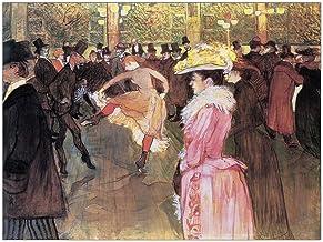 ArtPlaza AS10317 Panel Decorativo-Toulouse Lautrec Ball Im Moulin Rouge, Madera, Multicolor, 80x1.8x60 cm