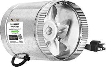 VIVOSUN 6 inch Inline Duct Fan 240 CFM, HVAC Exhaust Intake Fan, Low Noise & Extra Long 5.5' Grounded Power Cord