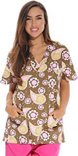 Best brown print scrub tops Reviews