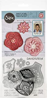 Sizzix 663131 Framelits Die Set with Stamps, Mandala Flower by David Tutera (6-Pack), Multicolor