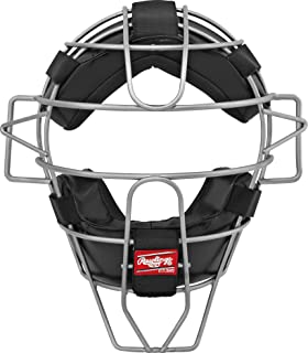 Rawlings Lightweight Hollow Wire Umpire Mask, Black, Adult