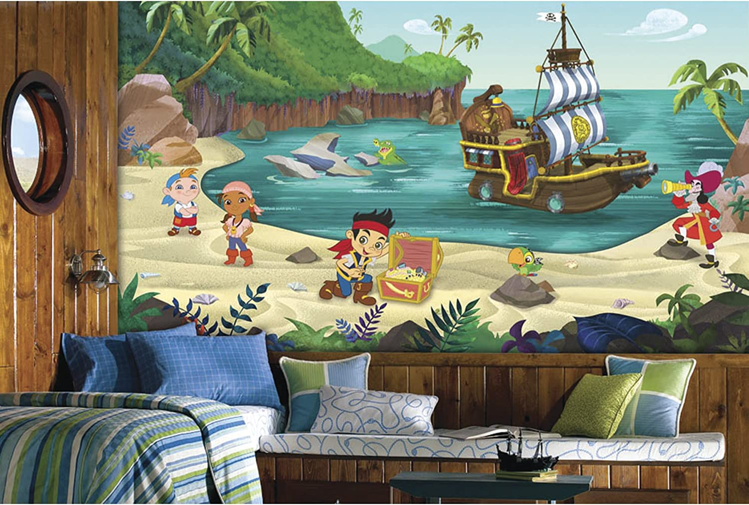 RoomMates Jake And The Never Land Pirates Prepasted, Removable Wall Mural - 6' X 10.5'