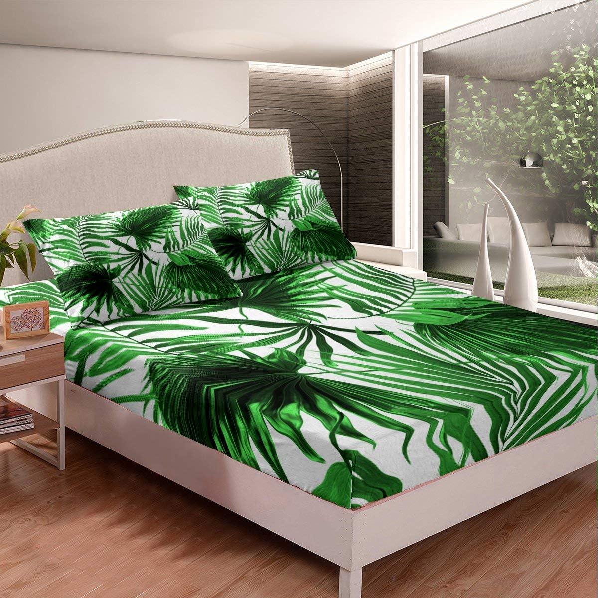Erosebridal Palm Leaves Ranking TOP13 Ranking TOP14 Fitted Sheet Bed Set Tro Hawaiian