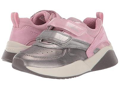 Geox Kids Jr Sinead 1 (Little Kid) (Pink/Silver) Girls Shoes