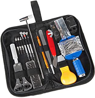Watch Repair Tool Kit 147 PCS Professional Spring Bar Watch Band Link Pin Tools Set with Carrying Case