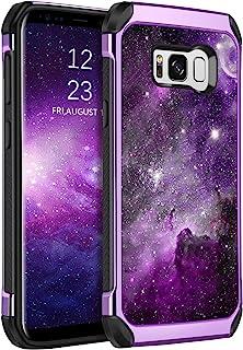 BENTOBEN Galaxy S8 Case, Phone Case Samsung S8, Slim Fit Glow in The Dark Shockproof Protective Dual Layer Hybrid Hard PC ...