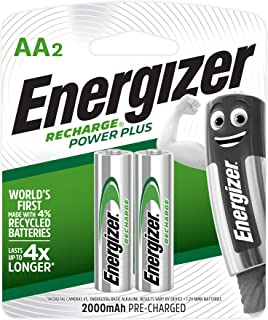 Energizer 1.2 Volts AA Rechargeable Multipurpose Battery 2-Pieces
