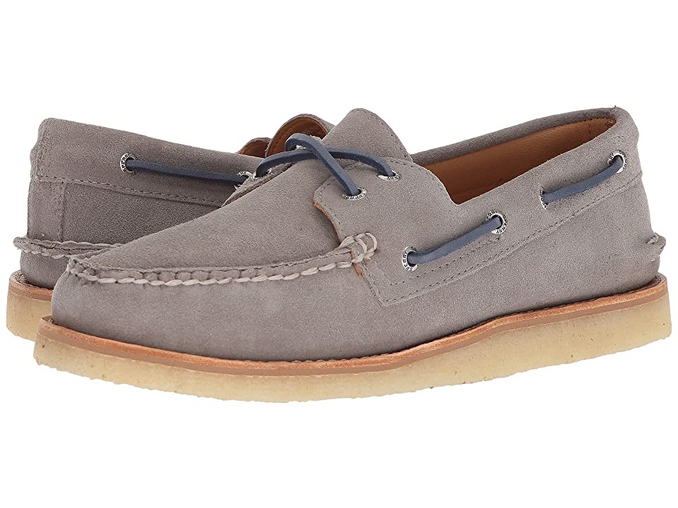 Sperry Gold A/O 2-Eye Crepe Suede (Grey) Men