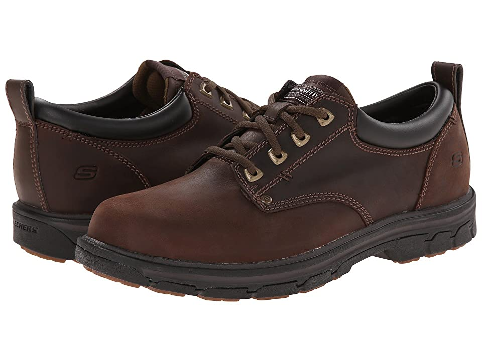SKECHERS Segment Relaxed Fit Oxford (Brown) Men