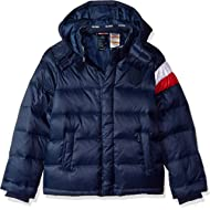 Boys' Adaptive Down Puffer Jacket with Magnetic Buttons