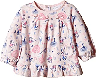Pumpkin Patch Baby Girls' Long Sleeve All Over Print Bow Top in Pink