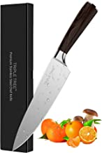 Chef Knife 8 inch, Kitchen Knife with Long Lasting Razor Sharp Edge and Comfortable Pakkawood Grip, Made of Japanese High Carbon Stainless Steel, for Cutting, Chopping, Dicing and Slicing