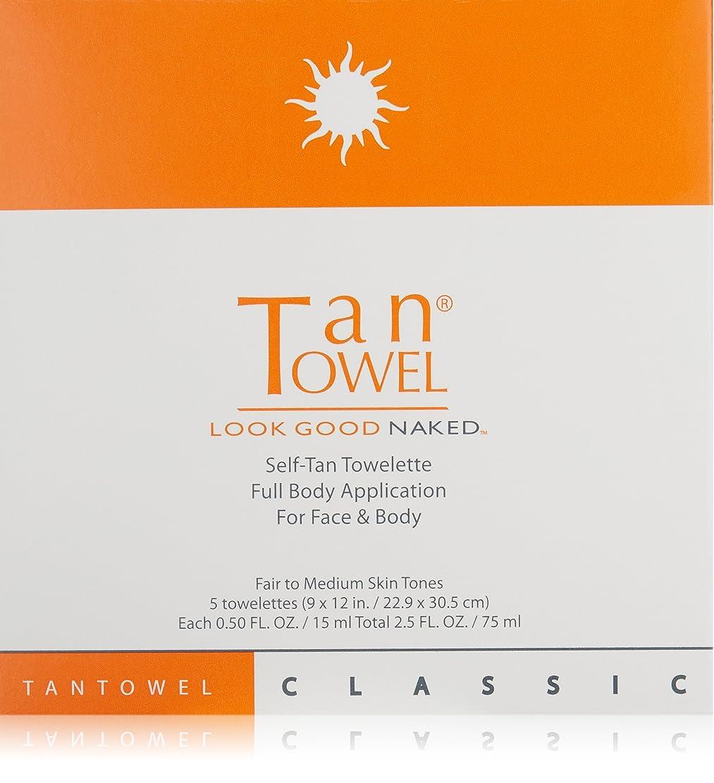 保有者にやにや辞任Tantowel Full Body Classic Self-Tan Towelette - 5 Packets (並行輸入品)