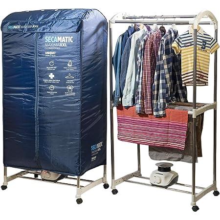 Sèche-linge portable par ventilation, 1200 W, capacité 30 kg, minuterie 180 min, silencieux, multifonction : sèche-linge, armoire, séchoir.