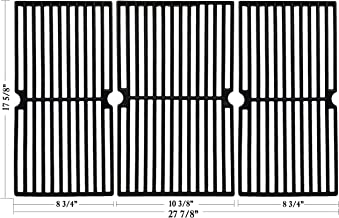Hisencn Cast Iron Cooking Grid Grate Replacement for Brinkmann Pro Series 8300, 810-1415-F, 810-7231-W, 810-8300-W, 810-9400-0, Grill King 810-9325-0 (17 5/8