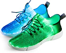 Shinmax Fiber Optic LED Shoes, Light Up Shoes for Women Men USB Charging Flashing Luminous Trainers for Festivals, Christmas Party