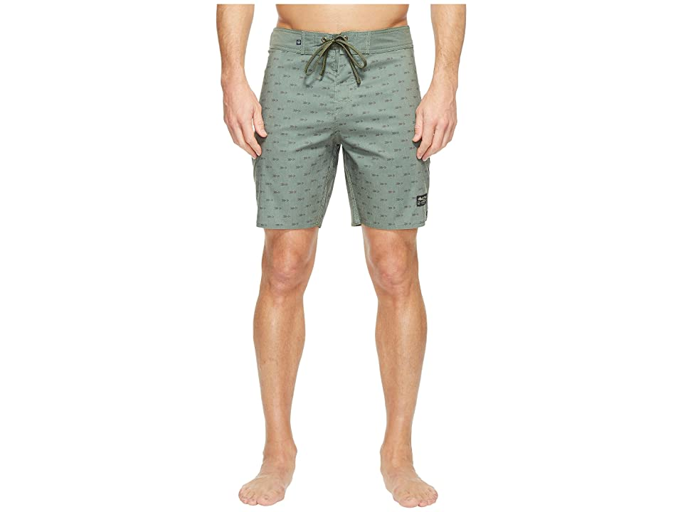 United By Blue Longbow Scallop Boardshorts (Olive) Men