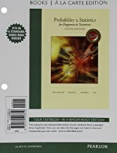 Probability & Statistics for Engineers & Scientists, MyLab Statistics Update, Books a la Carte Edition Plus NEW MyLab Statistics with Pearson eText -- Access Card Package (9th Edition)