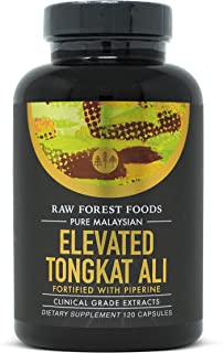 Tongkat Ali Extract Capsules — With Eurycomanone and Wild-Harvested Longjack Eurycoma Longifolia 200:1 — 120 Count — Forti...