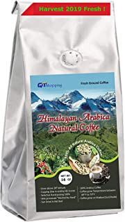 Himalayan Arabica Organic Fresh Grounded Medium Roast Coffee (1 LB) Cupping 90, Grow on Sunshade 100% Hand Picked Sun Dried World's Best Natural M. Roasted Ground Coffee Of Himalayas, Nepal
