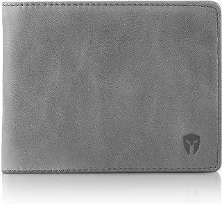 portafolios RFID para ventana de identificación para hombre, doble portafolios, extra capacidad de viaje